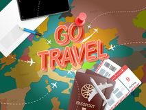 Go travel. Vacation concept with accessories Royalty Free Stock Images