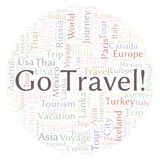 Go Travel! word cloud. Wordcloud made with text only royalty free illustration