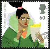 Goûts changeants dans le timbre-poste BRITANNIQUE de la Grande-Bretagne Photographie stock