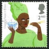 Goûts changeants dans le timbre-poste BRITANNIQUE de la Grande-Bretagne Photo stock