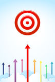 Go up to the target Royalty Free Stock Photo
