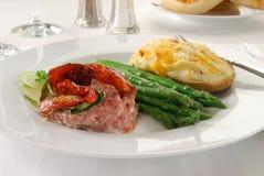 Go/urmet steak dinner Stock Photography