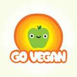 Go vegan apple Stock Images