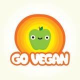 Go vegan apple Stock Images