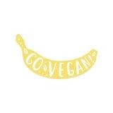 Go vegan banana Stock Images
