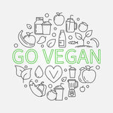 Go Vegan illustration Stock Photography