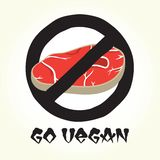 Go vegan meat vector Royalty Free Stock Photos
