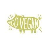 Go vegan motivational illustration. Stock Image