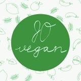 Go vegan - motivational poster or banner stock illustration
