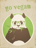 Go Vegan Panda Bear Stock Photo