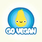 Go vegan pear Stock Photo