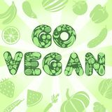 Go vegan poster Royalty Free Stock Photos