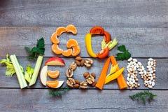 Go Vegan stock photo