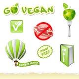 Go vegetarian set Royalty Free Stock Photos