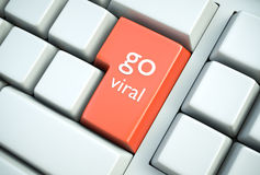 Go Viral. One of the best marketing strategies of recent years. What can be better in terms of gaining publicity these days? 3D rendered illustration Royalty Free Stock Photo