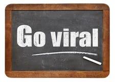 Go viral - blackboard sign Stock Photos