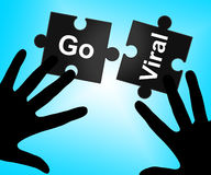 Go Viral Means Social Media Marketing And Connected Royalty Free Stock Photos