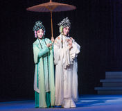 "Go visitant le pays sur le  blanc d'Opera""Madame Snake†de lac-Kunqu occidental Photos stock"