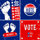 Go vote. Alternative vote banner with footprint background Stock Image