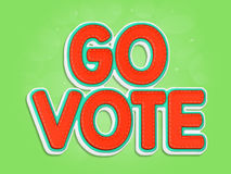 Go Vote. Words in 3D on green background Stock Image