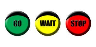 Go wait stop icons stock illustration