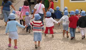 Go for a walk. Kids going for a walk Royalty Free Stock Photography