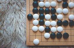 Go or Weiqi board game Royalty Free Stock Photography