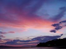 Go West. Evening by the sea in Brela, Croatia stock photos