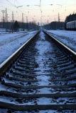Go west. The railways with semaphore (go west Stock Photography