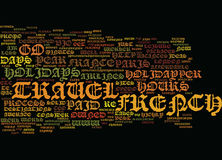 Go Where The French Go Word Cloud Concept Royalty Free Stock Photography