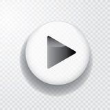 Go white button Stock Photography