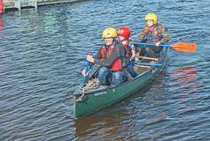 Go wild on the canal. Go wild on the Caledonian canal held at Muirfield marina, Inverness  on 17th September 2016 with boat trips canoeing, and games in the Royalty Free Stock Images