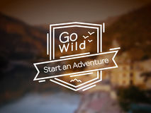 Go Wild Vector Badge Royalty Free Stock Photography
