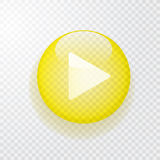 Go yellow button Stock Photography