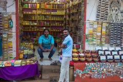GOA, ΙΝΔΊΑ - 1 ΜΑΡΤΊΟΥ: Κύριος δρόμος Arambol την 1η Μαρτίου 2017, Goa Στοκ φωτογραφίες με δικαίωμα ελεύθερης χρήσης