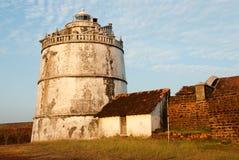Goa. The lighthouse at Fort Aguada, Goa, India stock photo