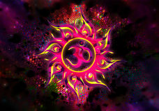 Goa trance abstraction. Abstraction of Goa trance music in pinks and yellow Stock Photography