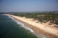 Goa Beach. An aerial view of a beach in Goa Stock Image