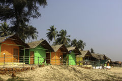 Goa Beach Huts. Beach huts in Goa India for rent Royalty Free Stock Photos