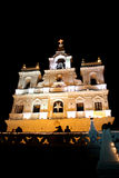 Goa Church at Night Stock Image