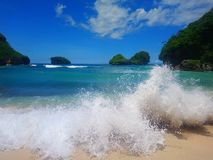 Goa Cina Beach stock image