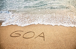 Goa en la arena Fotos de archivo libres de regalías