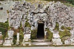 Goa Gajah在巴厘岛 库存照片