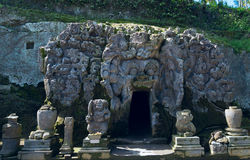 Goa Gajah ancient temple in Bali Stock Images