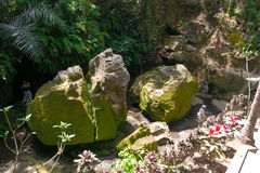 Goa Gajah (caverna dell'elefante) in Bali, Indonesia immagini stock