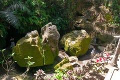 Goa Gajah (Elefant-Höhle) in Bali, Indonesien Stockbilder