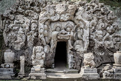 Goa Gajah grotta royaltyfri foto