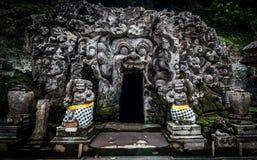 Goa Gajah grotta Arkivfoton