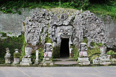 Goa Gajah Temple Stock Photo