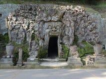Goa Gajah wejściowy drzwi obraz stock
